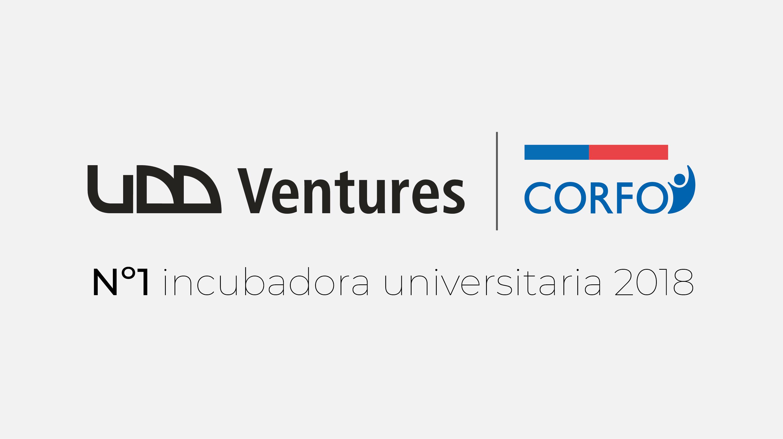 UDD Ventures 1º lugar como incubadora universitaria.