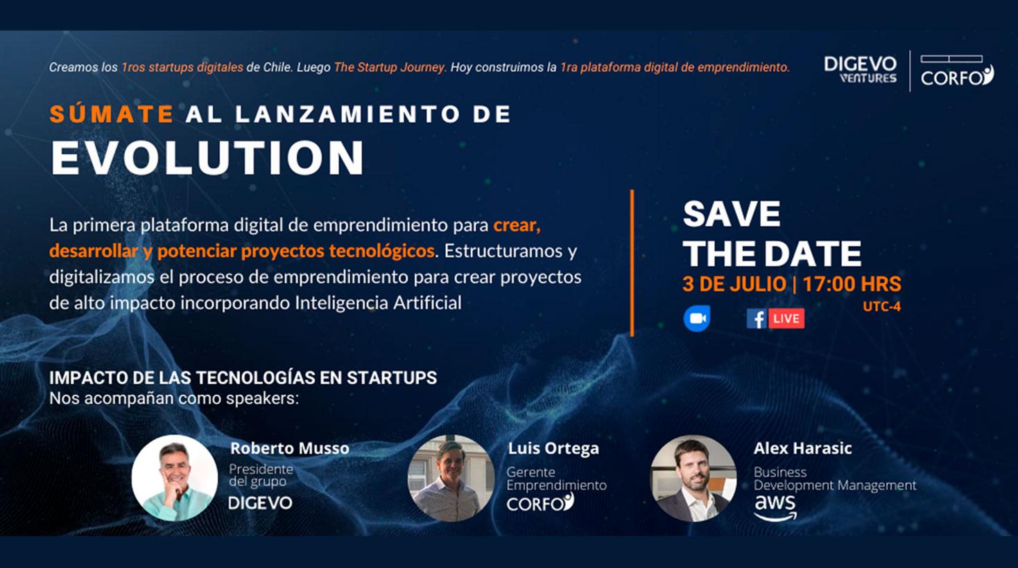 Lanzamiento plataforma Evolution de Digevo.