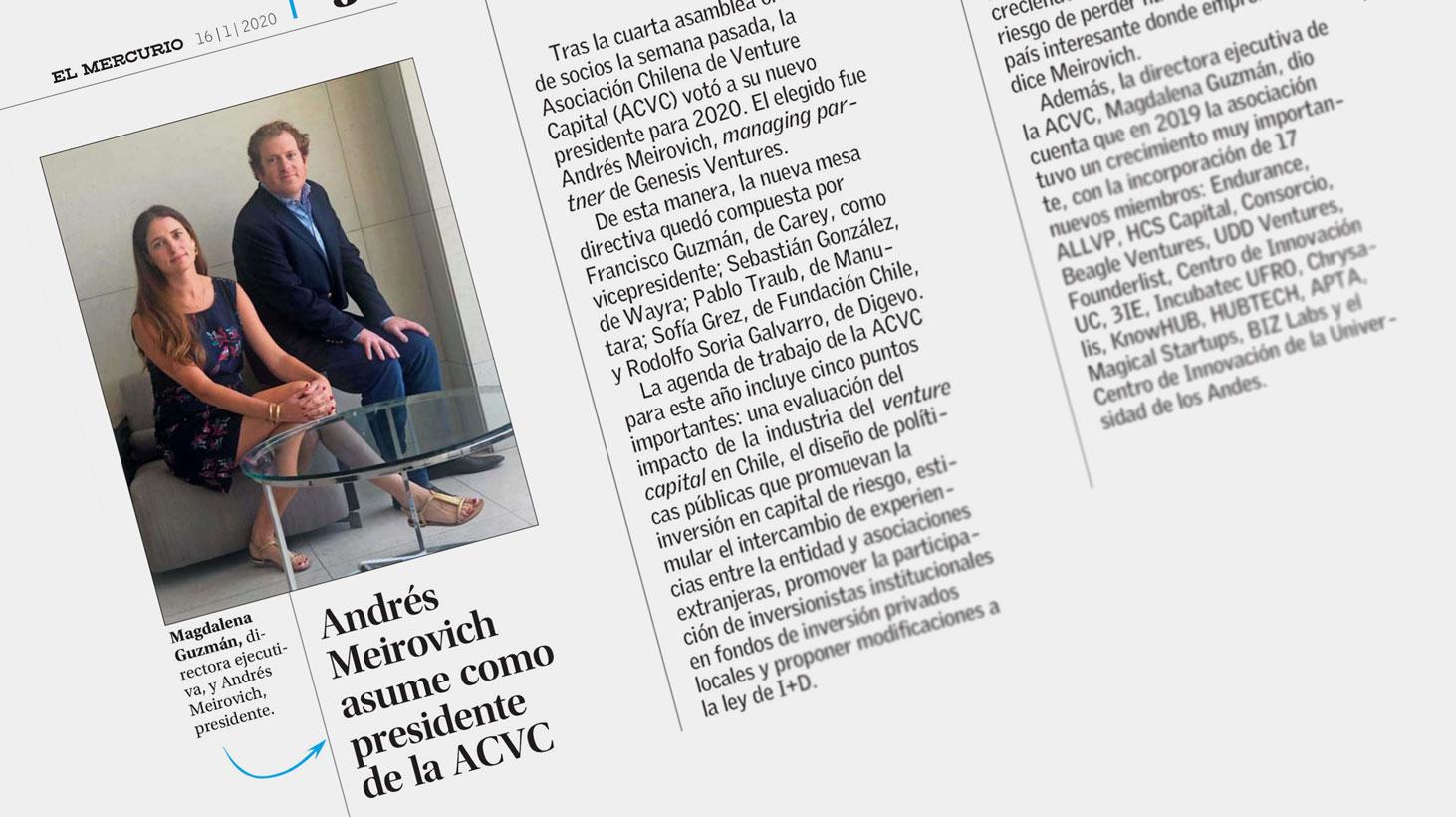 Andrés Meirovich asume como presidente de la ACVC