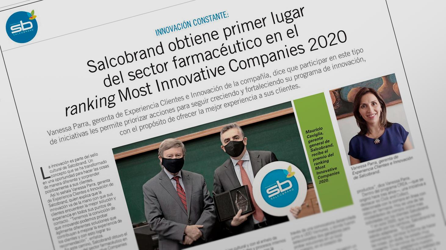 Salcobrand obtiene primer lugar en ranking Most Innovative Companies 2020.